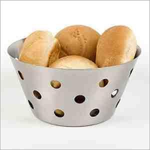 Bread Basket SS Round Hole 18, 20, 22 cm dia.
