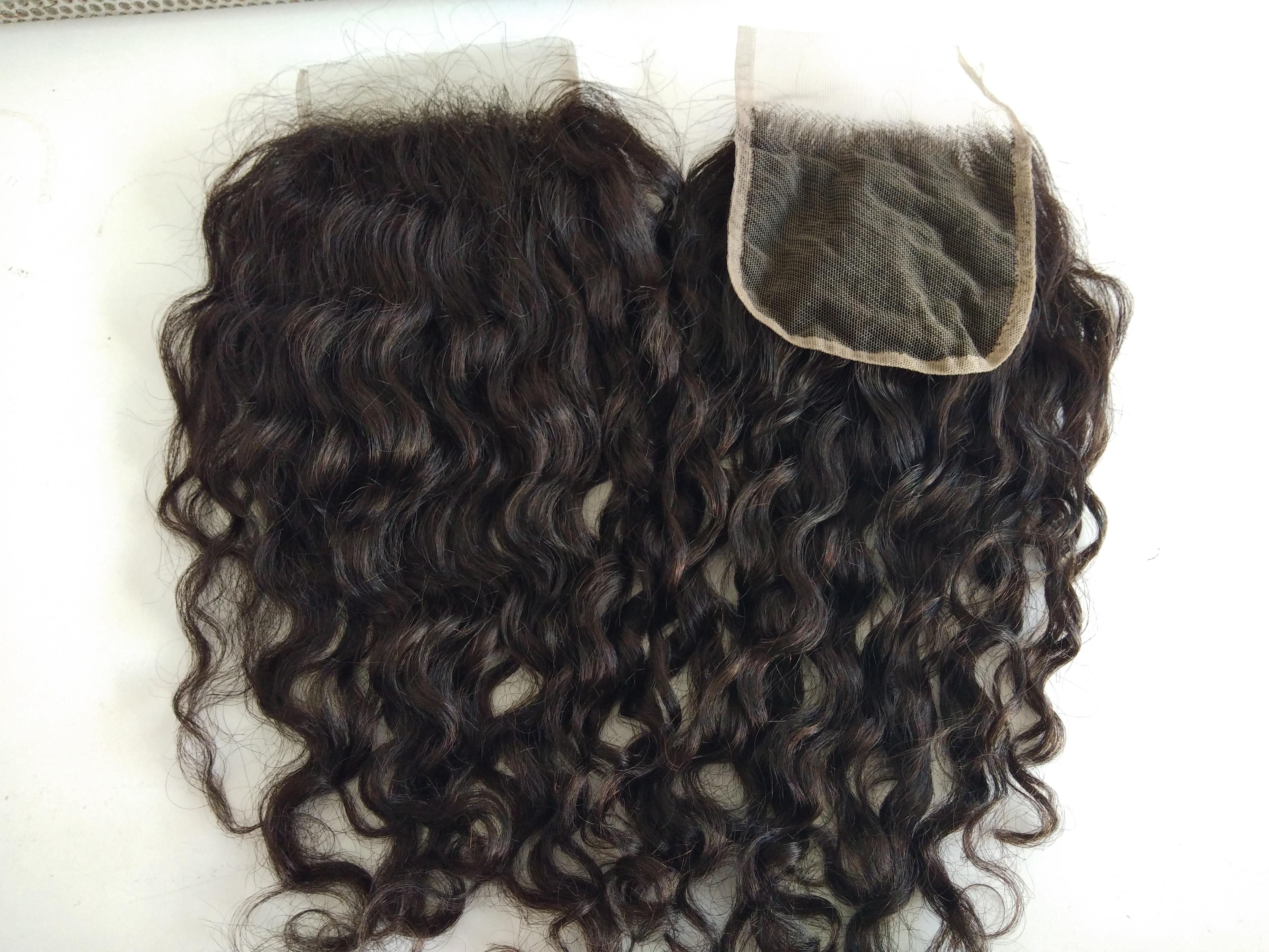 Brazilian Wholesale High Quality 4x4 Swiss Natural Wavy Lace Closure