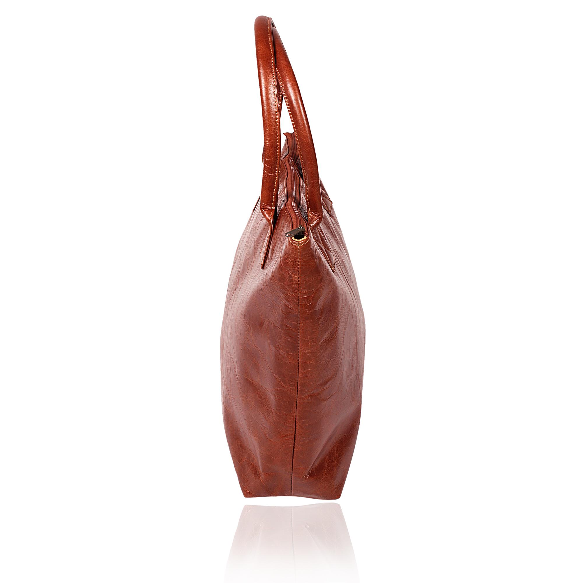 Designer Leather Tote
