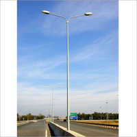 Double Arm GI Street Lighting Pole