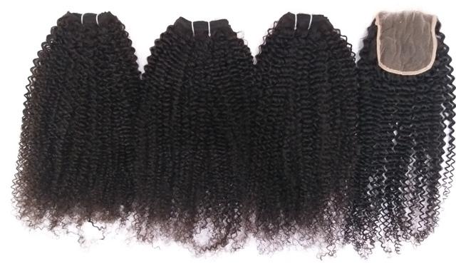 Kinky curly human hair