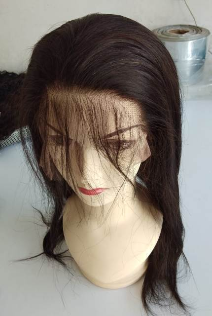 Straight Full Lace Transparent Human Hair Wigs