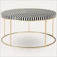 Bone Inlay Tea Table