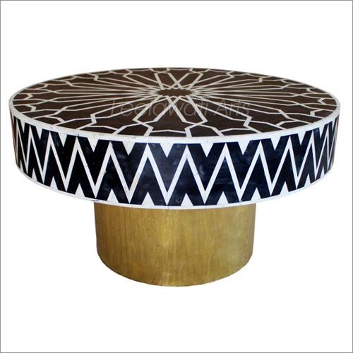 Bone Inlay Round Coffee Table