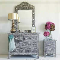 Bone Inlay Dressing Table