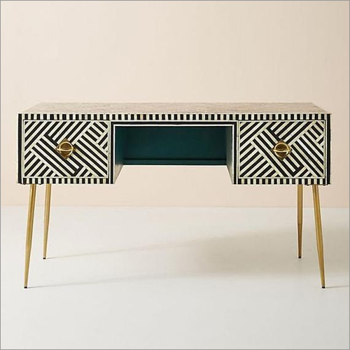 Bone Inlay Corner Table