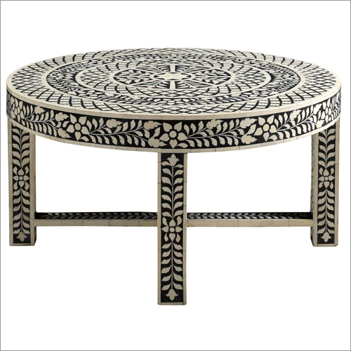 Bone Inlay Coffee Table Black