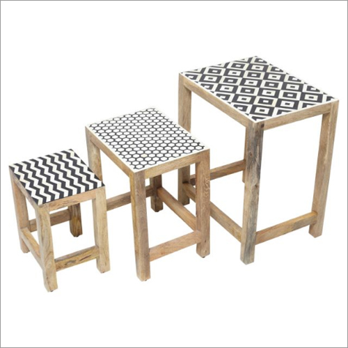 Bone Inlay Nested SideTables