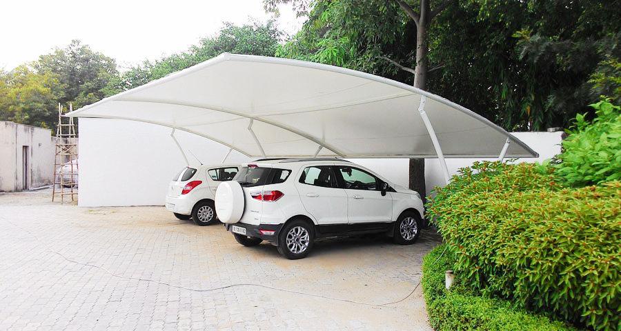 Carro que estaciona a estrutura Tensile
