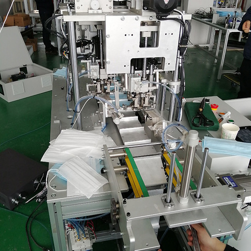 Semi Automatic 3ply Disposable Mask Making Machine