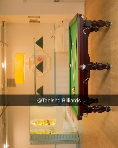 green top imported pool table
