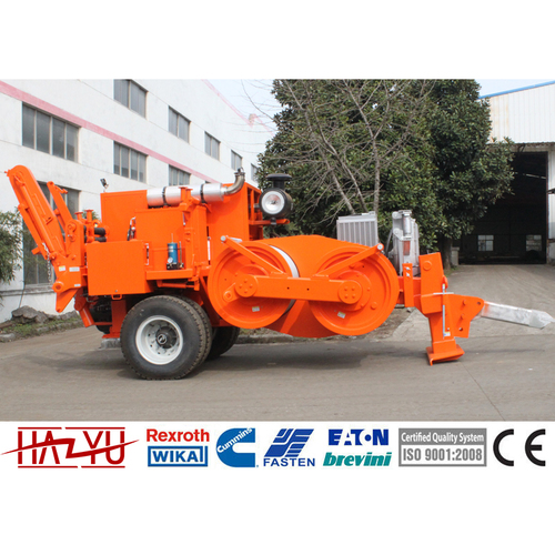 TY220 220kN Cummins Engine Hydraulic Puller Machine For Overhead Stringing