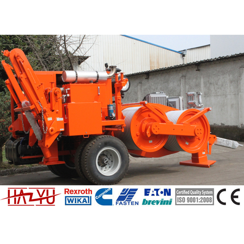 TY280 280kN Transmission Line Stringing Equipment Hydraulic Puller Cummins Engine