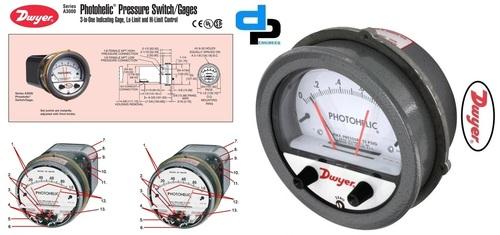 Dwyer A3000-8KPA Photohelic Pressure Switch Gauge