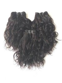 Remy Indian Temple wavy hair, Machine Wefts,