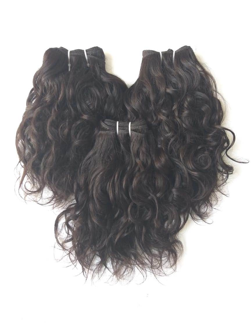 Remy Indian Temple Wavy Hair