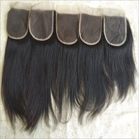 Black Straight Indian Temple Hair Straight Closure