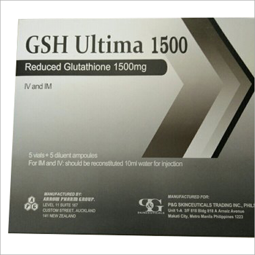 GSH Ultima 1500 mg Glutathione Injections