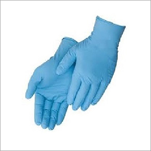 Sky Blue Disposable Hand Gloves