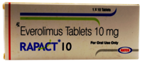 Rapact 10mg Tablet (Everolimus (10mg) - Natco Pharma Ltd)