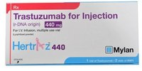 Hertraz 440mg Injection (Trastuzumab (440mg) - Mylan Pharmaceuticals Pvt Ltd)