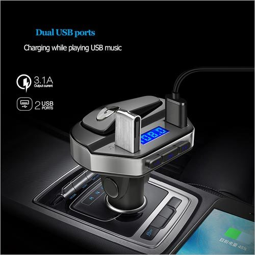 V6 MP3 Player 3.1A Quick USB Charger FM Transmitter Bluetooth