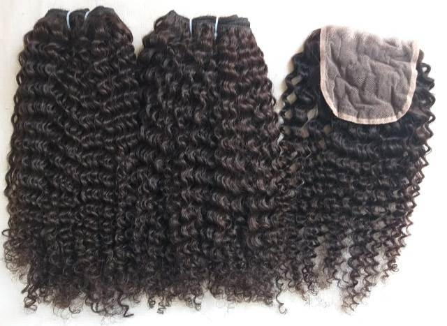 Afro Curly Single Donor human hair