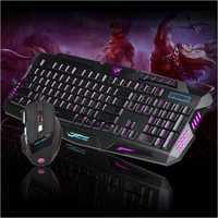 J30 Backlit Mouse Keyboard Set, English + Russian Design