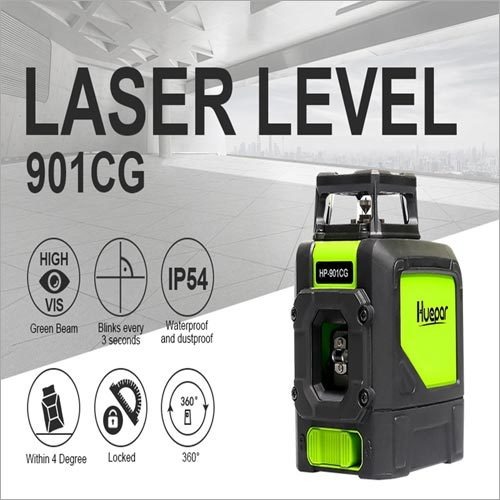 901CG Laser Level Green Beam Cross Laser Self-Leveling 360-Degree Coverage Horizontal And Vertical Line