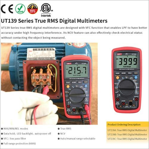 Mini UT139C Multimeter RMS NCV W/ Battery Tester Multimetro LCR Voltage Current Frequency Measurement Meter LCD