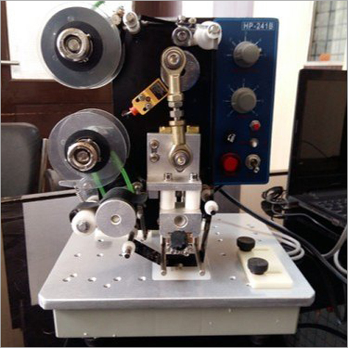 3 Lines Motorized Hot Foil Manual Ribbon Coder Machine