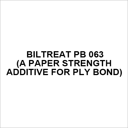 BILTREAT PB 063 (A Paper Strength Additive for Ply Bond)