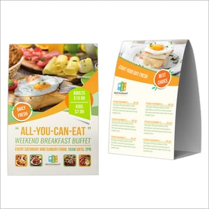 Paper Tent Card For Restaurant