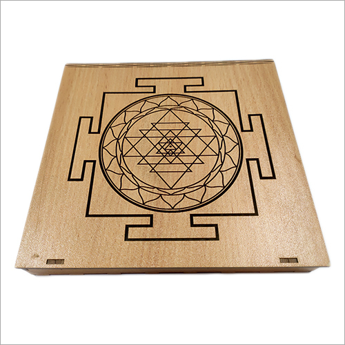 Engraved Wooden Astro Box