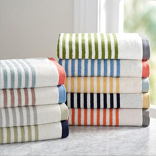 Natural Striped Bath Towel