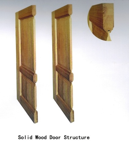 Oak Solid Wood Panel Door
