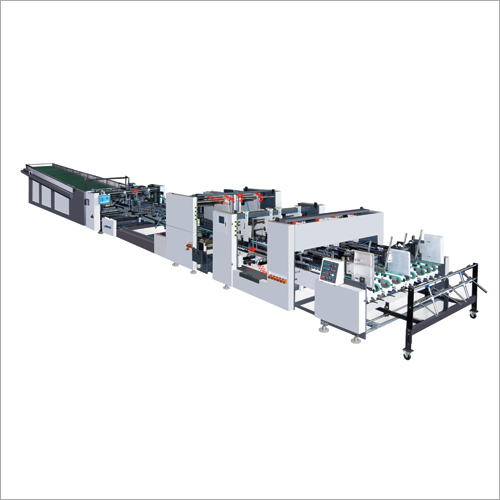 Fully Automatic Folder Gluer Machine with Double feeder for corrugated boxes.