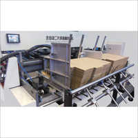 Double feeder in folder gluer
