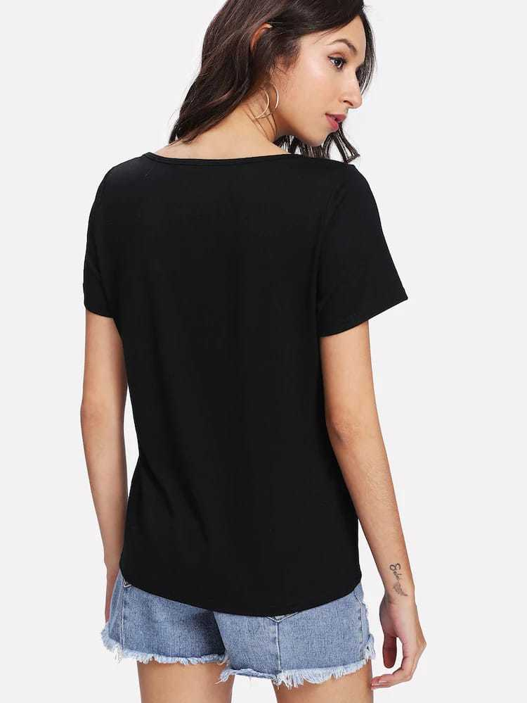 Black Casual Outerwear Top