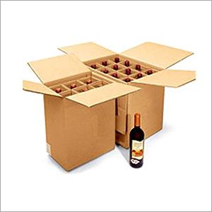 Wine Bottle Box With Cardboard Dividers