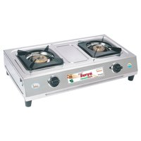 Elegant Stainless Steel -Two Burner Gas Stove