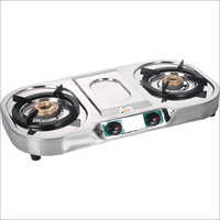 Nano Stainless Steel -Two Burner Gas Stove