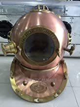 Nauticalmart Copper Finish Anchor Engineering Scuba Diving Diver's Helmet