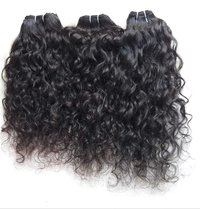 Indian Temple Unprocessed Virgin Raw  ,100% Indian Curly Human Hair