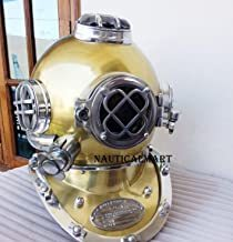 Antique Vintage Diving Divers Helmet Solid Steel US Navy Mark V 18''