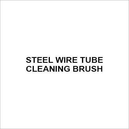 steel wire tube cleaning brush