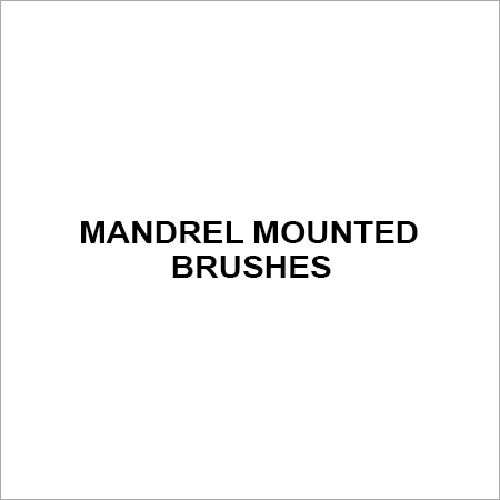 Mandrel mounted brushes