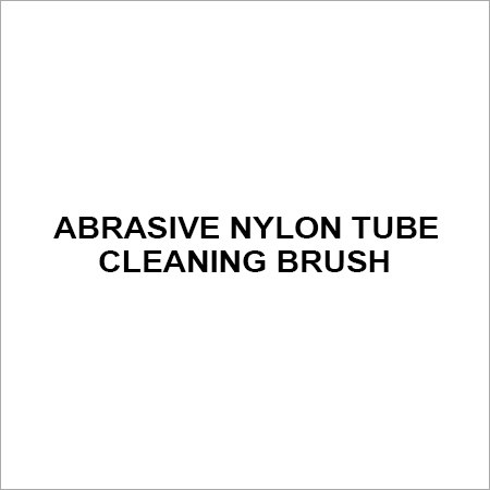 Abrasive Nylon tube cleaning brush