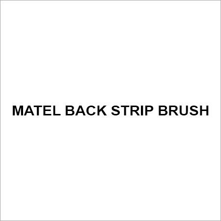 Matel back strip brush