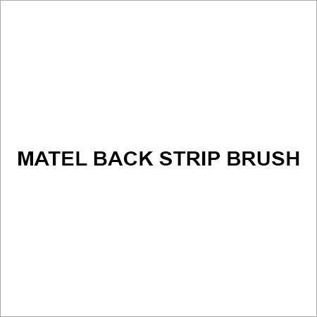 Matel back strip brush